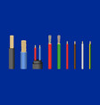 realistic detailed 3d electrical cable set vector image