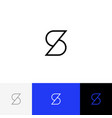 s logo icon symbol sign form letters s vector image vector image