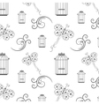 Seamless black and white pattern from tree vector image vector image
