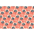 Seamless Festive Pattern with Love Couple and vector image vector image