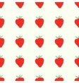 Seamless natural color pattern of red ripe vector image vector image