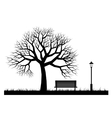 Silhouettes of park vector image vector image