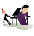 singer and pianist vector image vector image
