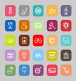 SME line flat icons vector image vector image