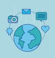Social media concept communication globe