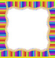 square wavy border made of multicolored wooden vector image