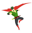 superhero king actions icon in cartoon colored vector image