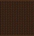texture of brown leather weave seamless pattern vector image vector image