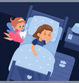 tooth fairy and sleeping child cartoon girl vector image vector image