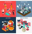 USA Touristic Concept Icons Set vector image vector image