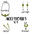 Women boho accessories hand drawn vector image vector image