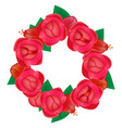 wreath flowers vector image vector image