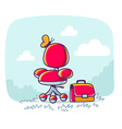 red office armchair with briefcase on nat vector image