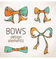 bows on paper background vector image