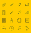 Education stationery icon set outline vector image