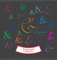 ampersand calligraphy vector image