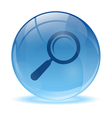 3D glass sphere and Magnifying glass icon vector image vector image