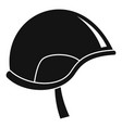army helmet icon simple style vector image vector image