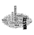 asset disposal in greater london text word cloud vector image vector image