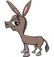 baby donkey cartoon vector image vector image