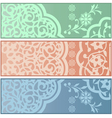 Banners with Islamic ornaments vector image vector image
