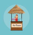 beach kiosk cartoon vector image