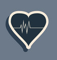 black heart rate icon isolated on grey background vector image vector image