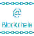 blockchain colorful squares vector image vector image
