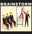 businessmen at the meeting brainstorming vector image