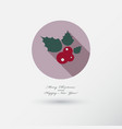 christmas berry icon with long shadow vector image vector image