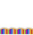 colored pencils down line in shape of wave border vector image