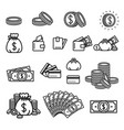 concept of money set icon on vector image