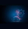 coronavirus virus outbreak and stock market vector image vector image