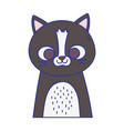 cute cat portrait cartoon feline animal icon vector image vector image