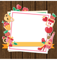 Decorative romance background vector image vector image