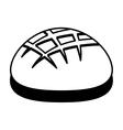 delicious bread isolated icon vector image
