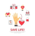 Donor Flat Concept vector image