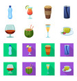 drink and bar icon vector image vector image