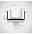 eduation online concept e-book school background vector image vector image