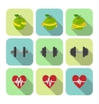 Fitness sport exercises progress icons set vector image vector image