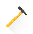 flat construction hammer icon vector image vector image