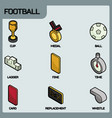 football color outline isometric icons vector image vector image
