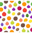 fruits and berries 3d seamless pattern background vector image vector image