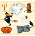 Funny creepy decoration elements for Halloween vector image vector image
