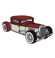 funny red and white hotrod vector image vector image