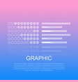 graphic diagrams with text on light background vector image vector image