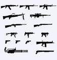 Guns detailed silhouettes