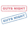 guys night textile stamps vector image vector image