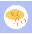 hat with ribbon in circle vector image