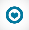 heart bold blue border circle icon vector image